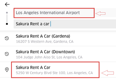 Los Angeles Rental Cars: Sakura Rent-A-Car